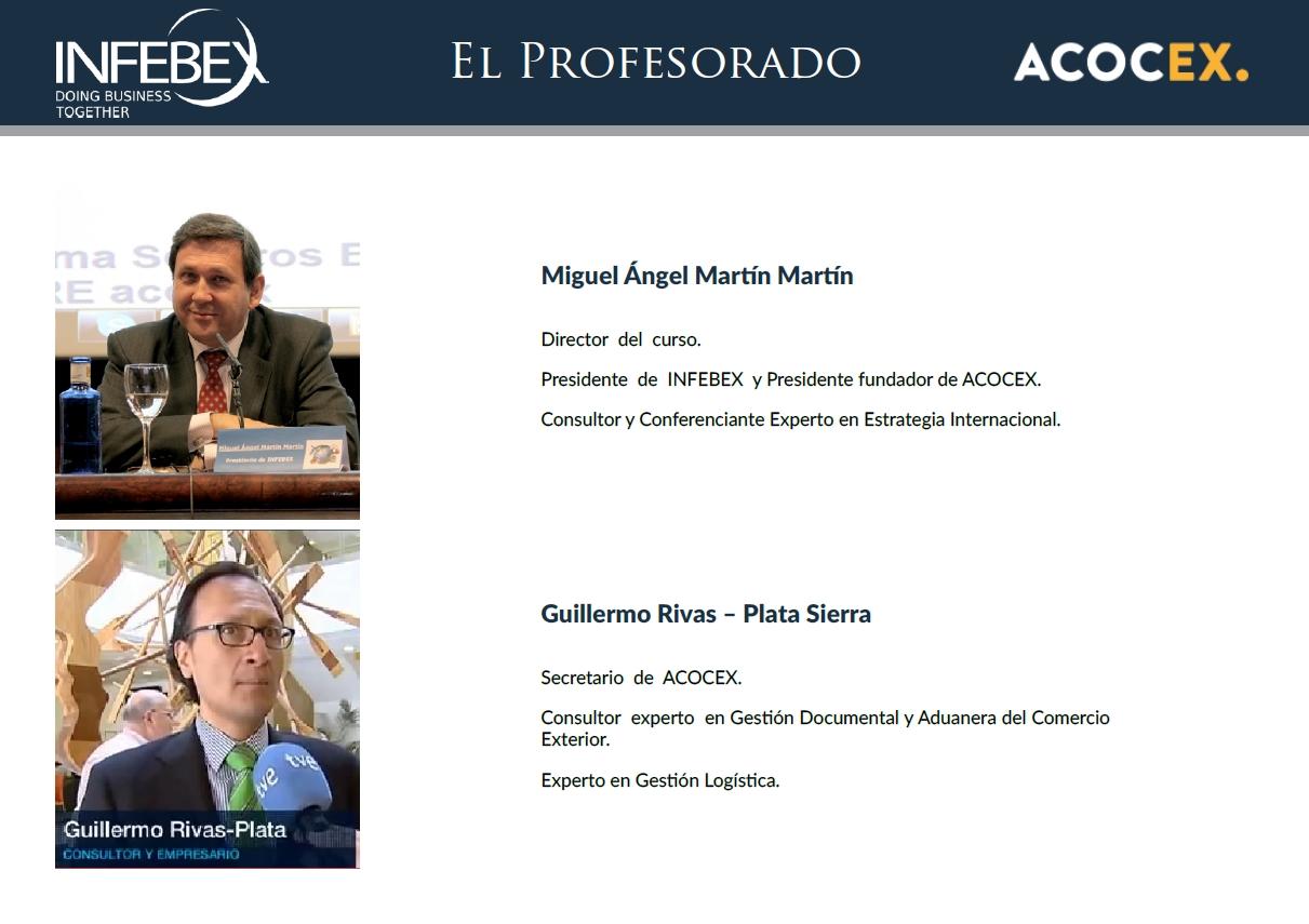 Creación y Gestión de un Negocio de Consultoría y Promoción del Comercio Exterior - Infebex - Acocex - Tutores